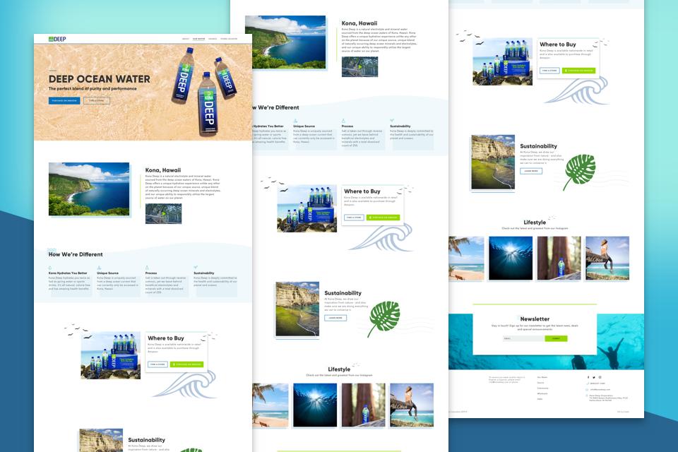 kona deep web design